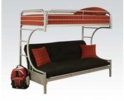 Silver T/F/Futon Metal Bunked