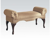 Beige MFB Rolled Arm Bench