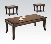 3PC Cherry Wood C/E Table Set
