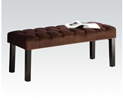 96074 Brown Suede Bench