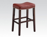 Bar Stool with RED PU
