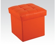 Orange Ottoman with Storage