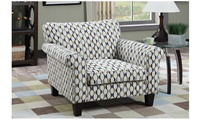 Accent Chair Print Circle