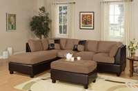 3PC Saddle  Sectional Sofa