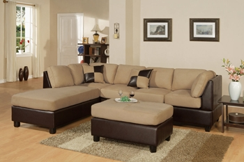 3PC Hazelnut  Sectional Sofa