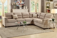 2PC Sofa Set with 2 Accent Pillows